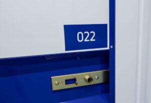 deur met slot opslagbox OK Storage
